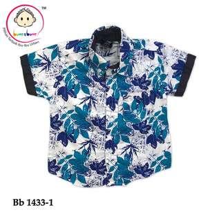Hawaiian Shirt blue flower