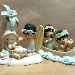 Precious Moments Hawaii Cruise Figurines