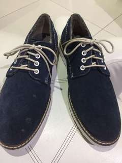 Hush Puppies Navy Blue Suede