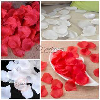 (Ready Stock) Rose Flower Petal For Propose Marriage & Wedding Red/White