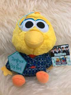 JONGHYUN SHINee x SESAME STREET BIG BIRD PLUSH