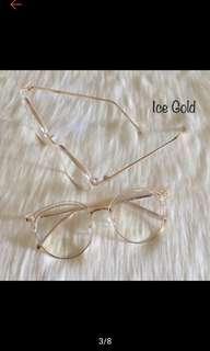 Russ Eyeglasses   plastic metal frame