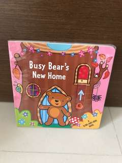 Free Postage-BN Busy Bear's New Home (A Slide and Seek Book)
