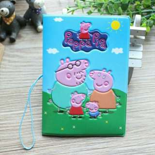 *FREE DELIVERY to WM only / Pre order 18 days* Peppa pig passport holder each as shown design/color. Free delivery is applied for this item.