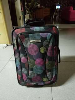 TRACKER multi-color printed 2 wheel suitcase