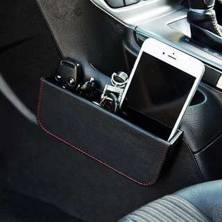 Car organizer/ handphone holder , keys/leather