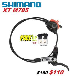 Shimano XT M785 Hydraulic Disc Brake With Cooling Fins One Side Only