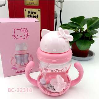 Hello Kitty Sippy cup with free cleaning brush