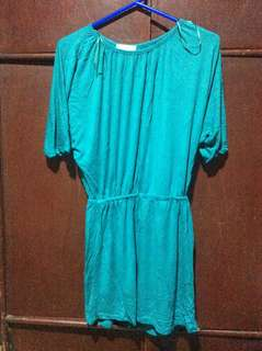 BLUE GREEN DRESS USED ONCE