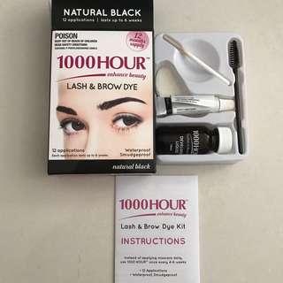 Natural Black Eyebrow and Eyelash Tint Dye