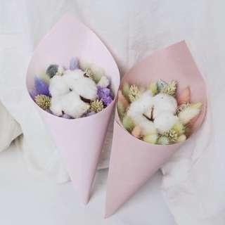 Dried Flower / Preserved Flower / Cotton Bouquet