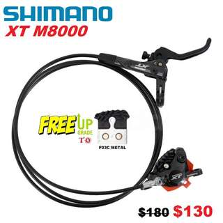 Shimano XT M8000 With COOLING FIN Brake pads One side only-------- (XTR M9020 XT M8020 M8000 M785 SLX M7000 M675 M315 MT2 MT4 MT5 MT5E MT6 MT7 MT8 Trail) Dyu