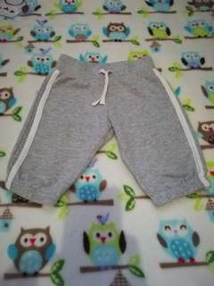 Gray cotton pants