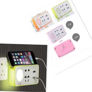 the socket usb with light