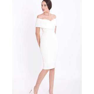 *OFFER*🆕 Doublewoot Off Shoulder Dress in White Color