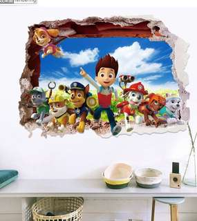 (3 design)paw patrol wall decal sticker