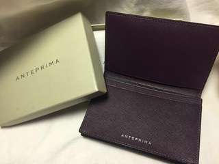 [New] Anteprima Saffiano Leather Card Holder in Dark Purple