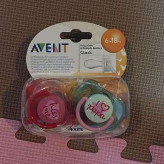 Avent pacifier 6-18mos