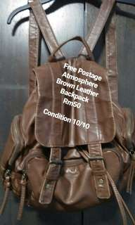 FREE POS Atmosphere leather Backpack