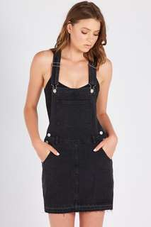 Black Demin Pinafore with pockets Brand New with Tags