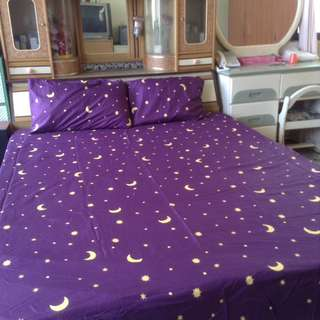 Bedcover and 2 pillow case