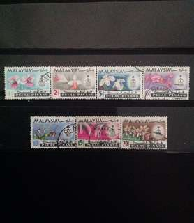 Penang 1965 Orchids Def 7V Used Set (0462)