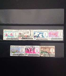 Penang 1965 Orchids Def 7V Used Set (0455)