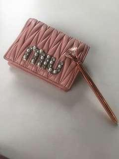 Beautiful pink Authentic Miu Miu wallet