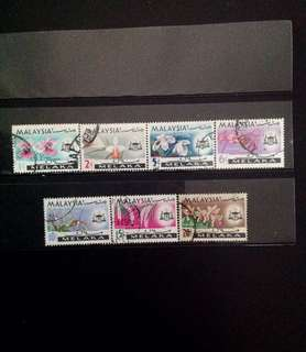 Malacca 1965 Orchids Def 7V Used Set (0456)