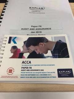 Kaplan ACCA F8 Audit and assurance notes