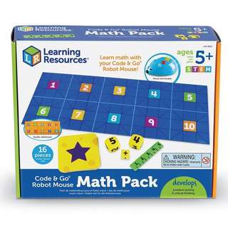 PRE-ORDER: Learning Resources Code & Go Robot Mouse Math, 16 Pieces