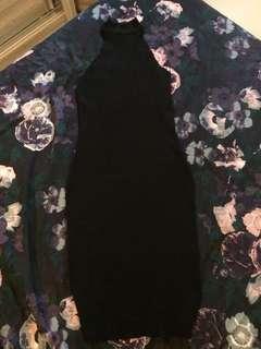 MDS Black Bodycon Black Dress