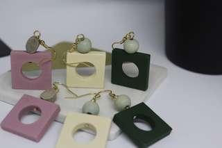 Hollow Cube Earring