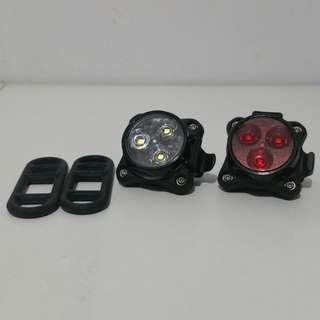 Lezyne Zecto Drive Led Light Front and Rear (Black)
