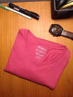 t-shirt cotton on basic magenta