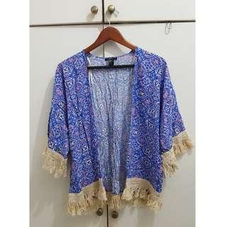 Forever21 Kimono with Fringes