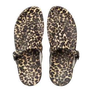 Authentic Fitflop SuperJelly Leopard Sandals