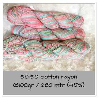 Hand dye cotton yarn