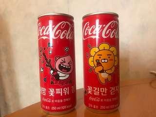 韓版kakao friends (Ryan + Apeach) 一對特別版可口可樂 Coca Cola 罐裝