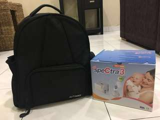 Spectra3 breast pump with Atumnz bagpack & cooler bag