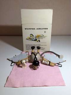 Wupper Airlines Ceiling Hanging Wooden Flying Man Model