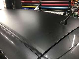 Matte black roof wrap