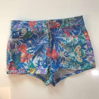 Topshop Moto floral shorts