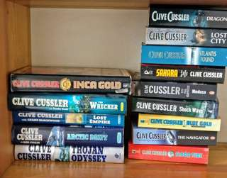 Clive Cussler book collection #20under