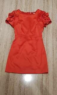 Karen millen floral sleeve dress