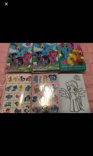 Instock My Little Pony A5 Coloring And Stickers Book Brand New