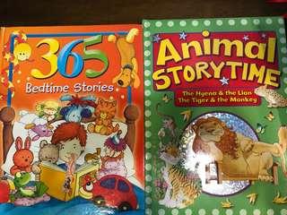 Kids bedtime booksx2 hard cover