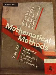 Mathematical Methods VCE Units 1 2 Textbook