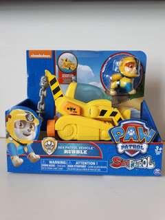 Brand new in box Nickelodeon Paw Patrol Rubble Sea Patrol Vehicle 3+