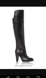 Size 5.5 Leather Over the knee boots